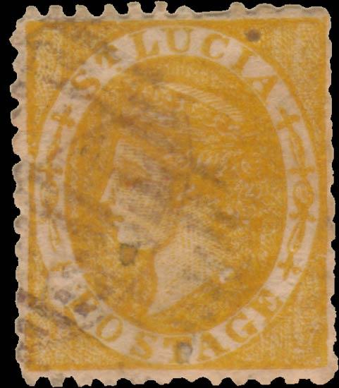 St.Lucia_QV_1s_orange_Taylor_Forgery