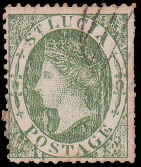 St.Lucia_QV_6p_green_Forgery