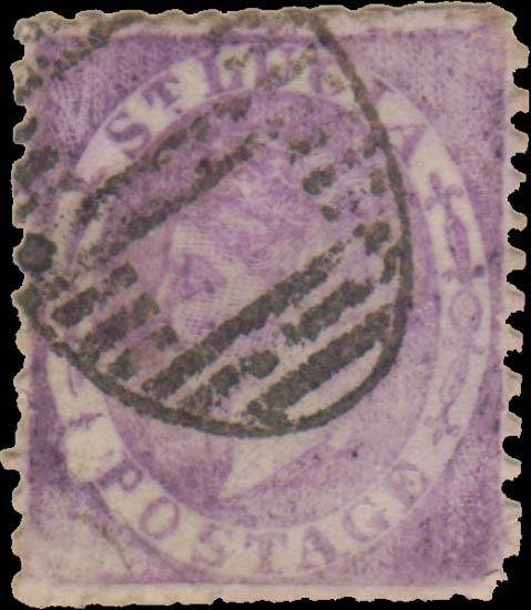 St.Lucia_QV_1p_purple_Taylor_Forgery