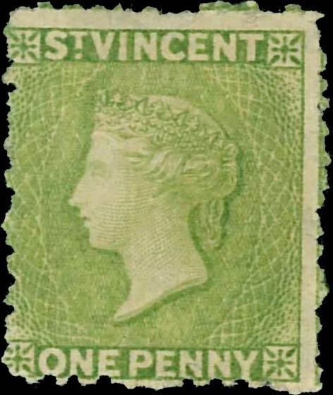 St.Vincent_QV_1d_green_Genuine