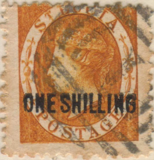 St_Lucia_QV_1s_Surcharge_Oneglia_Forgery