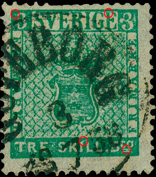 Sweden_1855_3skilling_green_Sperati_Forgery
