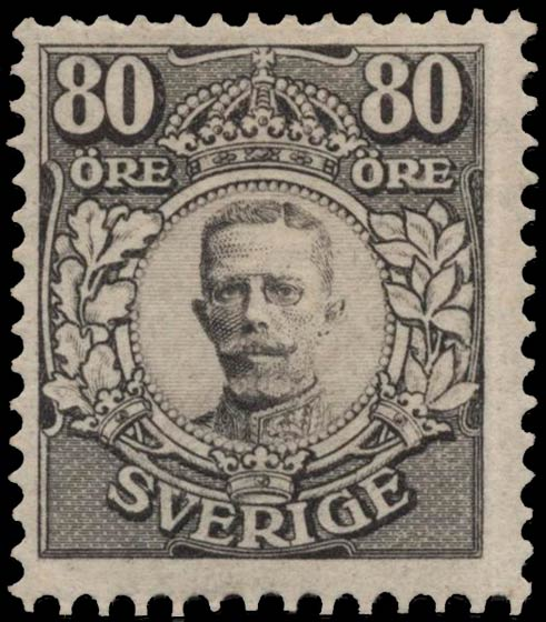 Sweden_1918_King_Gustav_V_80ore_Genuine