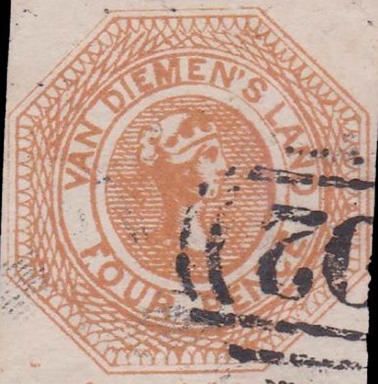 Tasmania_1853_Courrier_4p_Forgery
