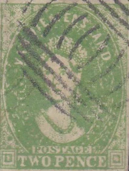 Tasmania_1855_QV_Chalon_2p_Forgery