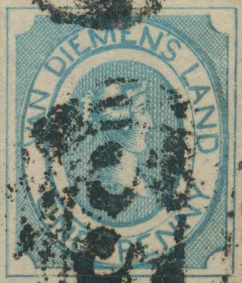 Tasmania_Courier_1d_1853_Genuine