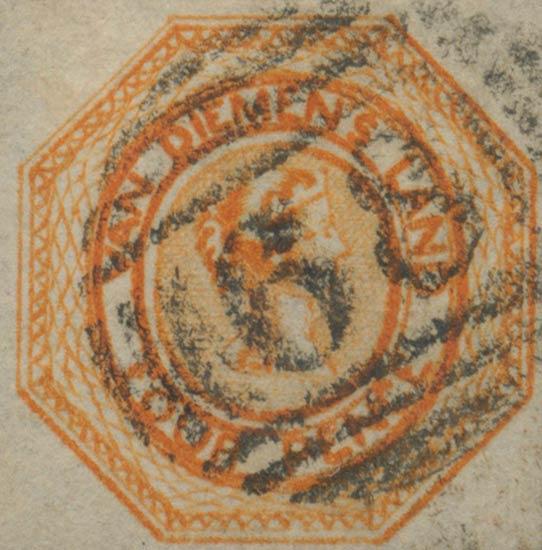 Tasmania_Courier_4p_1853_Genuine