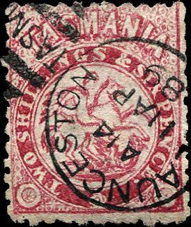 Tasmania_George-and-the-Dragon_2s6p_Forged_Postmark