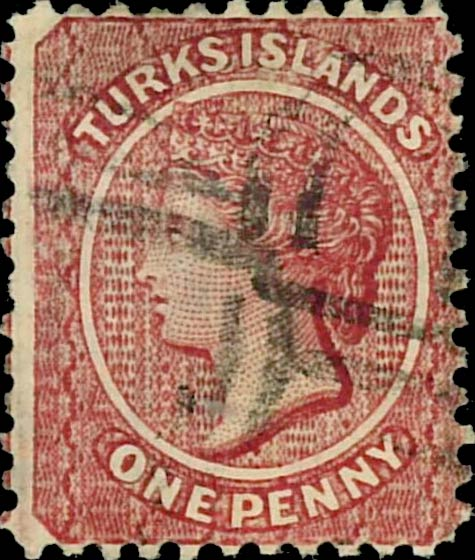 Turks_Islands_1881_QV_1d_Genuine