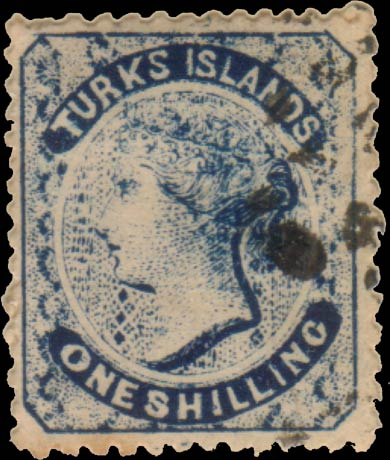 Turks_Islands_QV_1sh_Taylor_Forgery