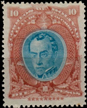 Bolivar_1882_Bolivar_10p_Genuine