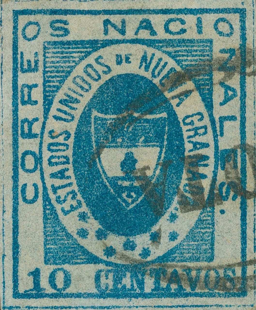Colombia_1861_Coat_of_Arms_10_centavos_Sperati_Forgery