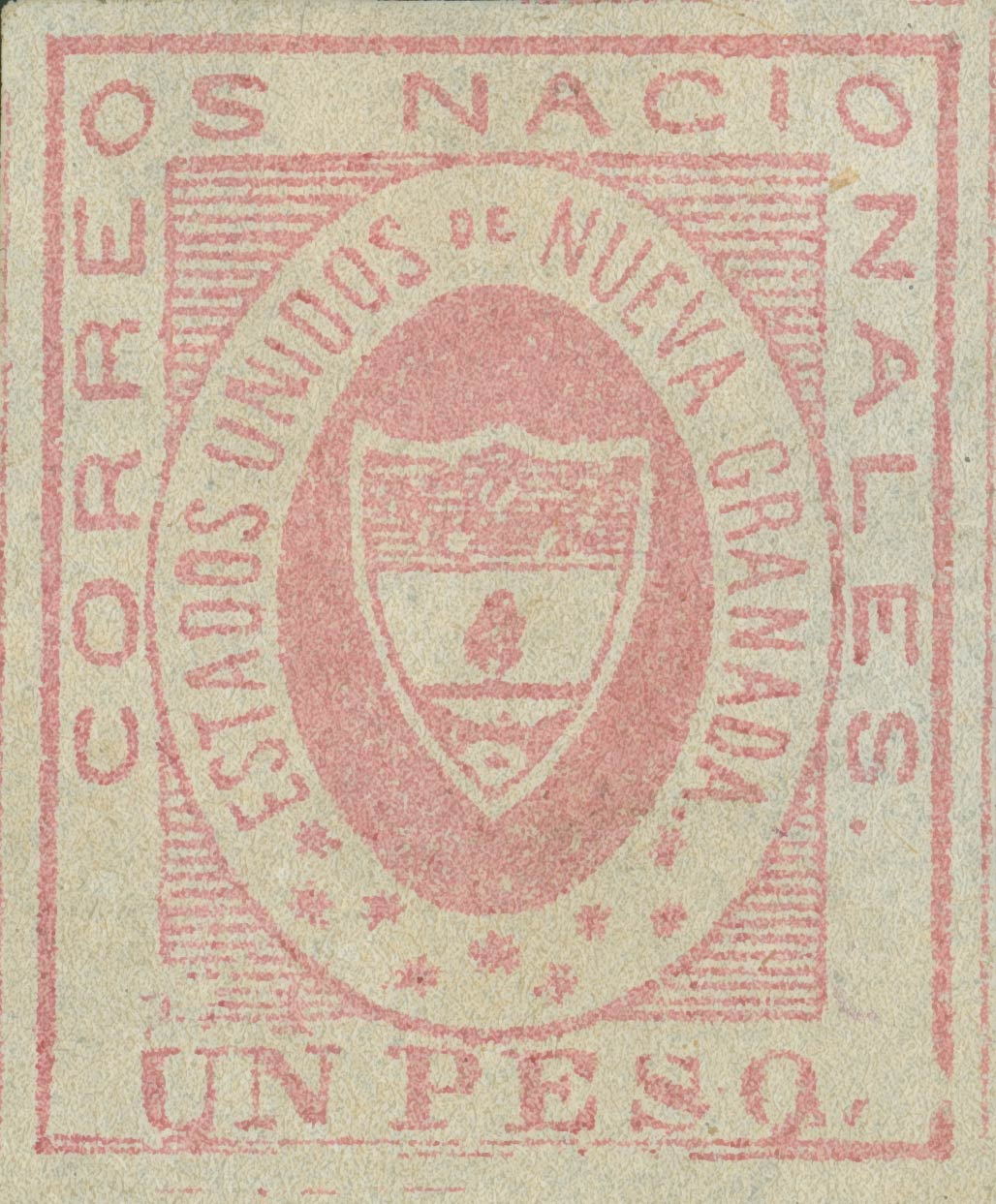Colombia_1861_Coat_of_Arms_1p_Sperati_Forgery