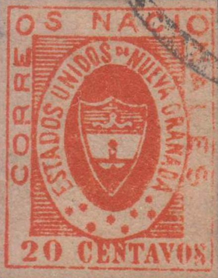 Colombia_1861_Coat_of_Arms_20_centavos_Forgery