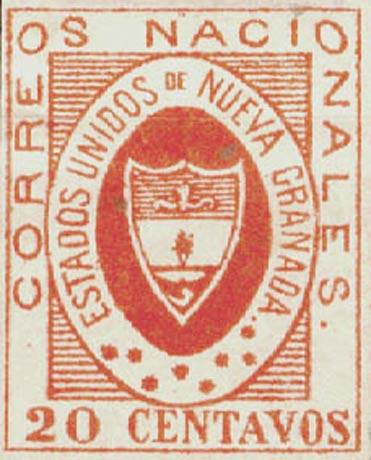 Colombia_1861_Coat_of_Arms_20_centavos_Forgery2