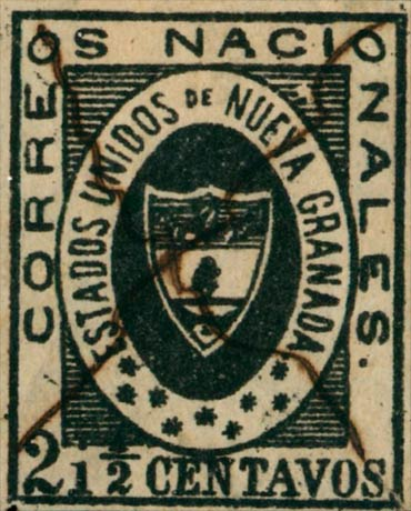 Colombia_1861_Coat_of_Arms_2half_centavos_Genuine