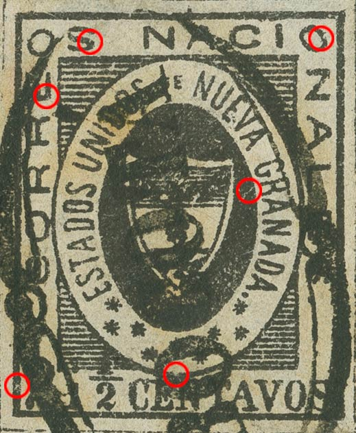 Colombia_1861_Coat_of_Arms_2half_centavos_Sperati_Forgery