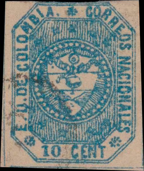 Colombia_1862_Coat_of_Arms_10_centavos_Forgery