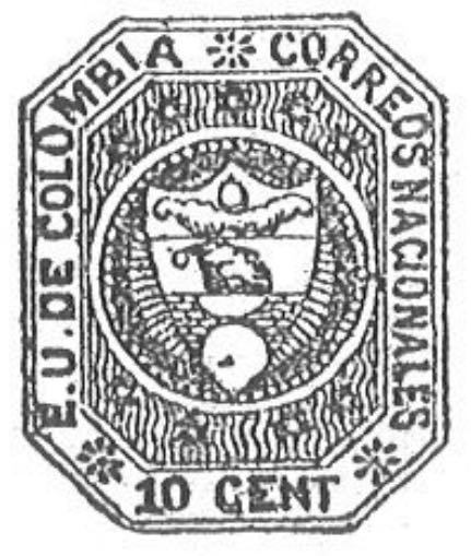 Colombia_1862_Coat_of_Arms_10_centavos_Torres_illustration