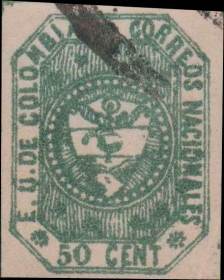 Colombia_1862_Coat_of_Arms_50_centavos_Forgery