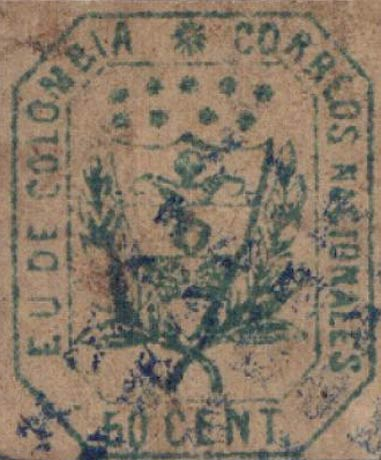 Colombia_1863_Coat_of_Arms_50c_Forgery2