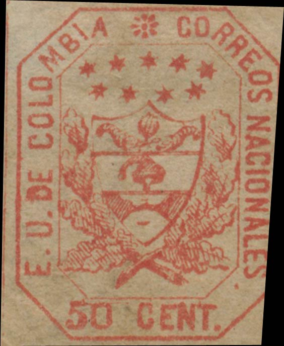 Colombia_1863_Coat_of_Arms_50c_Genuine