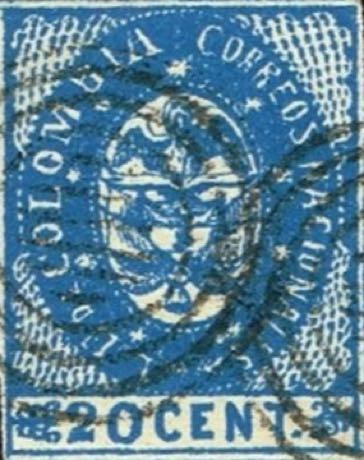 Colombia_1865_Coat_of_Arms_20c_Forgery