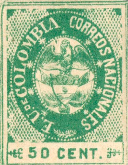 Colombia_1865_Coat_of_Arms_50c_Genuine