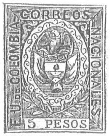 Colombia_1867_Coat_of_Arms_5p_Torres_illustration