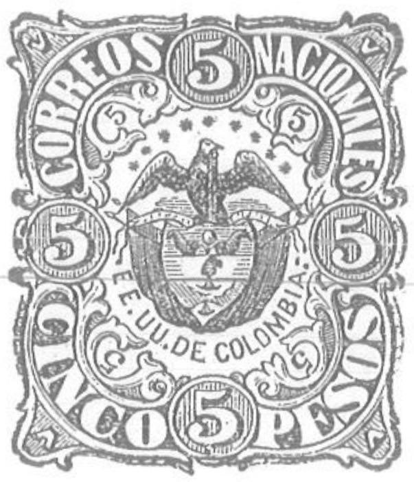 Colombia_1868_Coat_of_Arms_5p_Torres_illustration