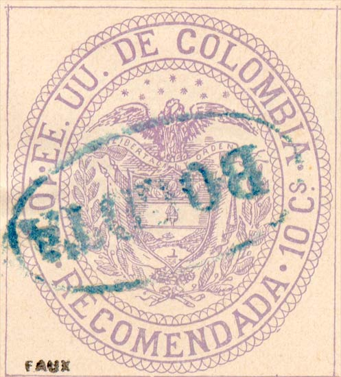 Colombia_1881_10c_Fournier_Forgery