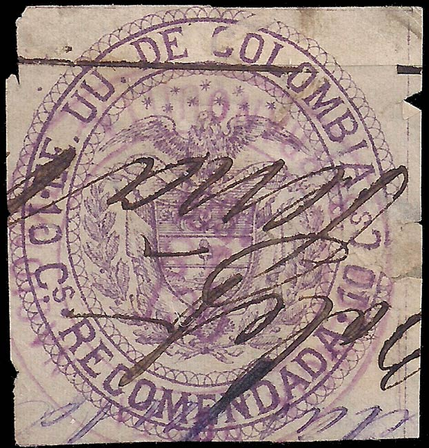 Colombia_1881_10c_Genuine