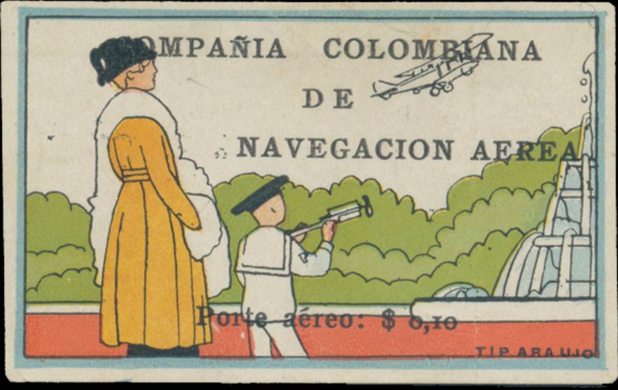 Colombia_1920_Airmail_10c_Genuine