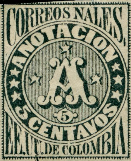 Colombia_Recommended_1870_5c_Genuine