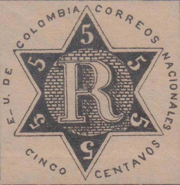 Colombia_Registration_Stamp2_1865_5c_Forgery2