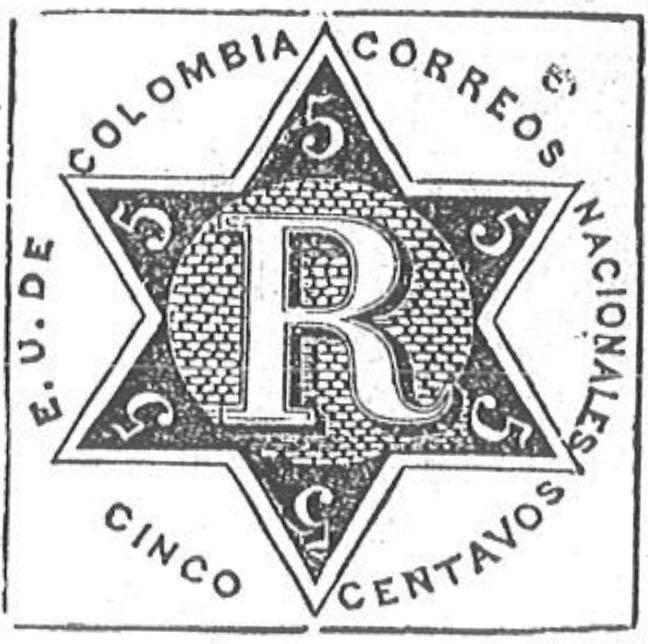 Colombia_Registration_Stamp2_1865_5c_Torres_illustration