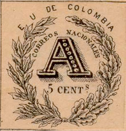 Colombia_Registration_Stamp_1865_5c_Forgery2