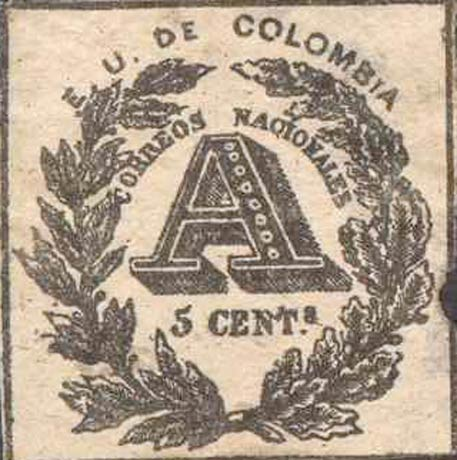 Colombia_Registration_Stamp_1865_5c_Forgery3