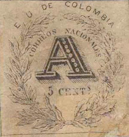 Colombia_Registration_Stamp_1865_5c_Forgery4