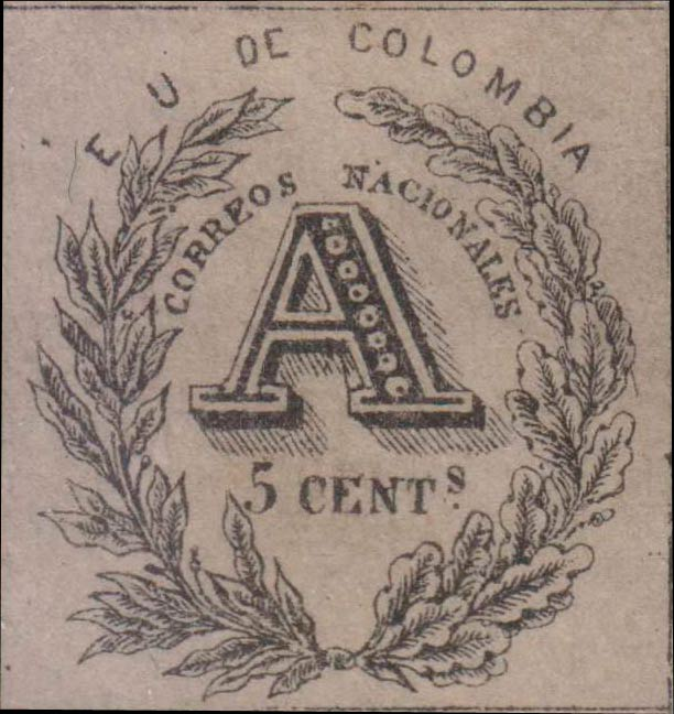 Colombia_Registration_Stamp_1865_5c_Forgery5