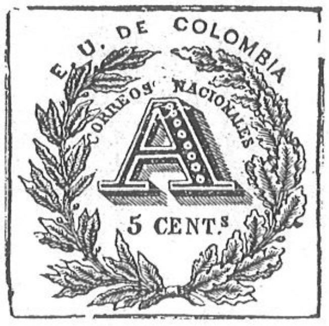Colombia_Registration_Stamp_1865_5c_Torres_illustration