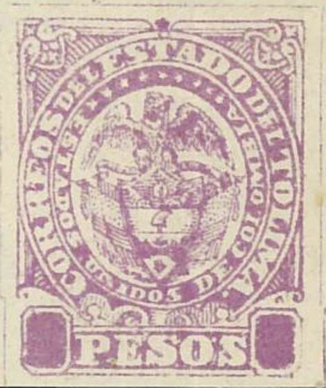 Colombia_Tolima_1886_2p_Coat-of-Arms_Forgery
