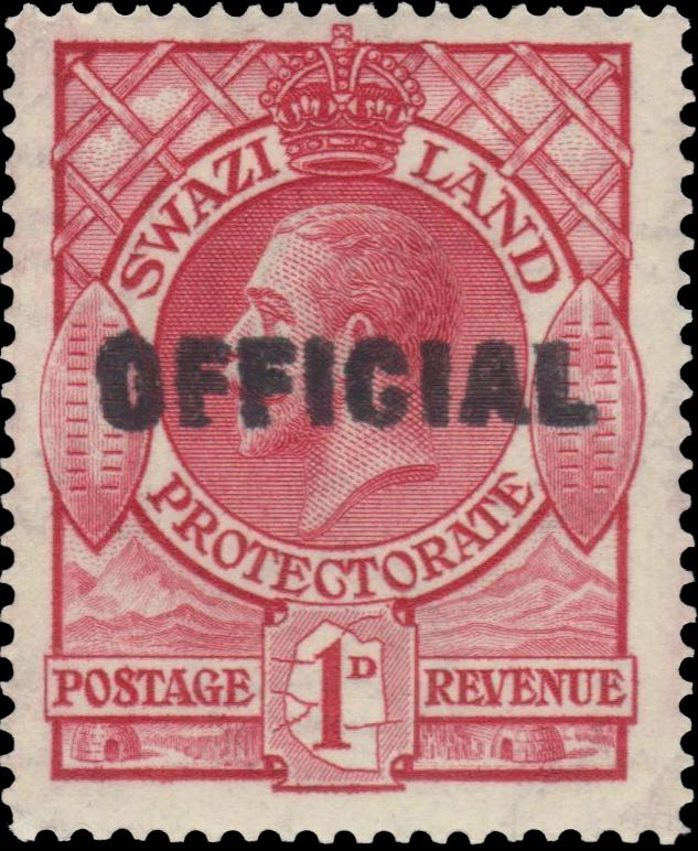 swaziland_1933_official_1d_overprint_forgery