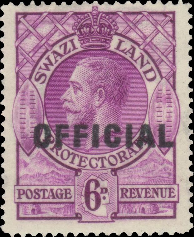 swaziland_1933_official_6d_overprint_forgery