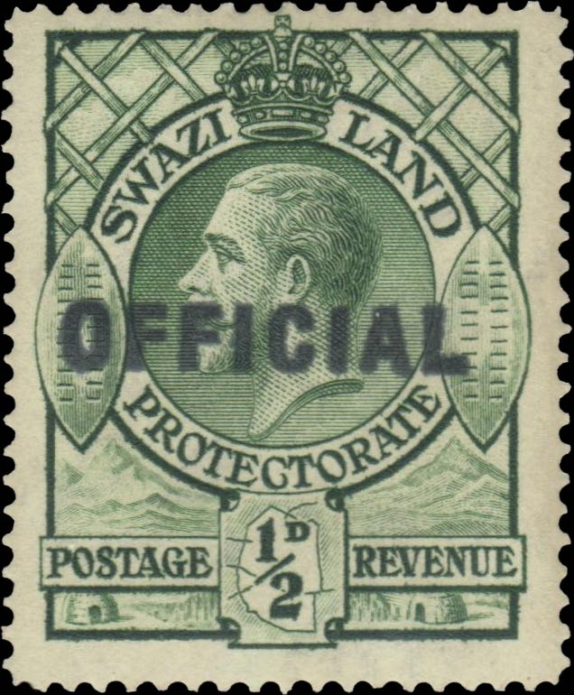 swaziland_1933_official_half-d_overprint_forgery