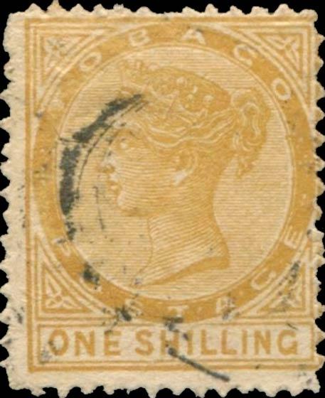 Tobago_1879_Queen_Victoria_1s_Forgery