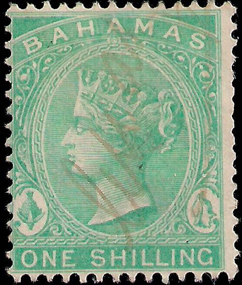 Bahamas_1861-5_QV_1s_Genuine