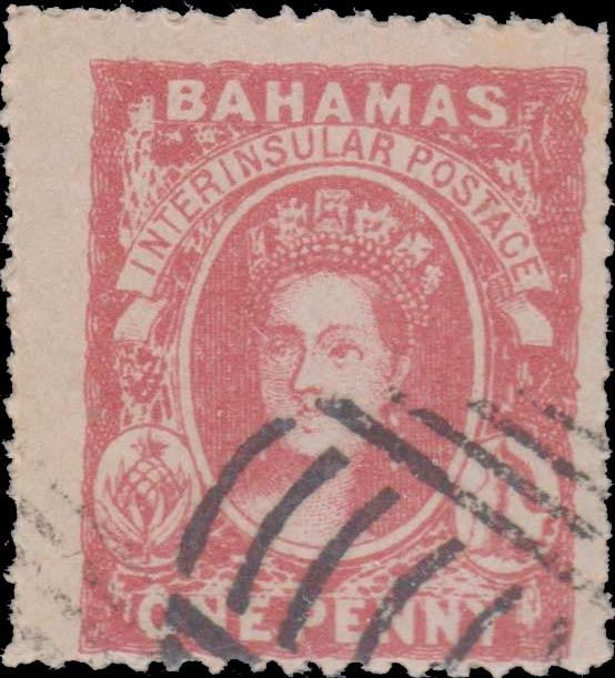 Bahamas_1861_QV_1d_Spiro_Forgery
