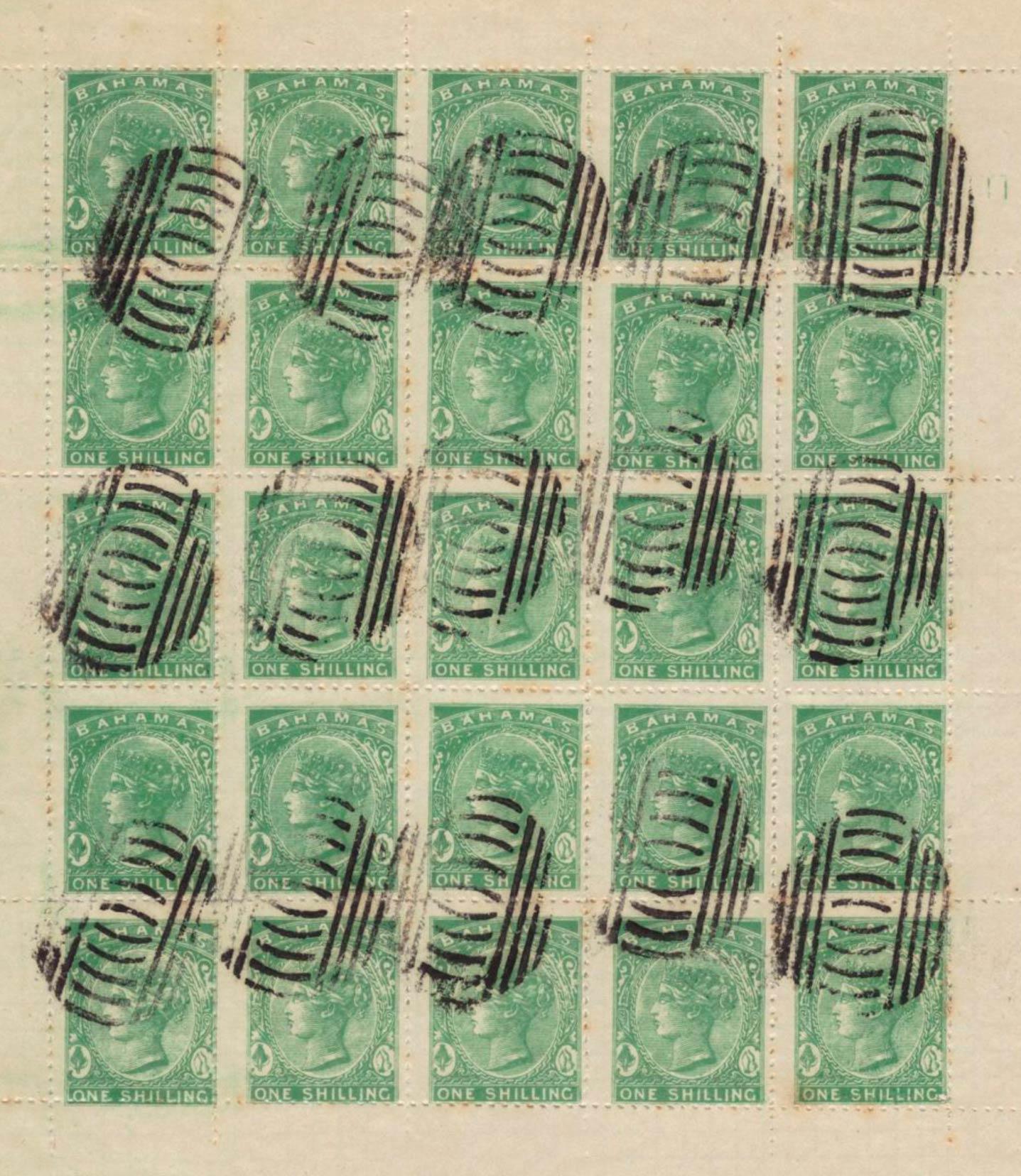 Bahamas_1865_1s_Spiro-sheet_Forgery