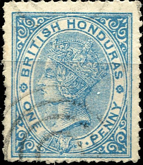 British_Honduras_QV_1d_Forgery